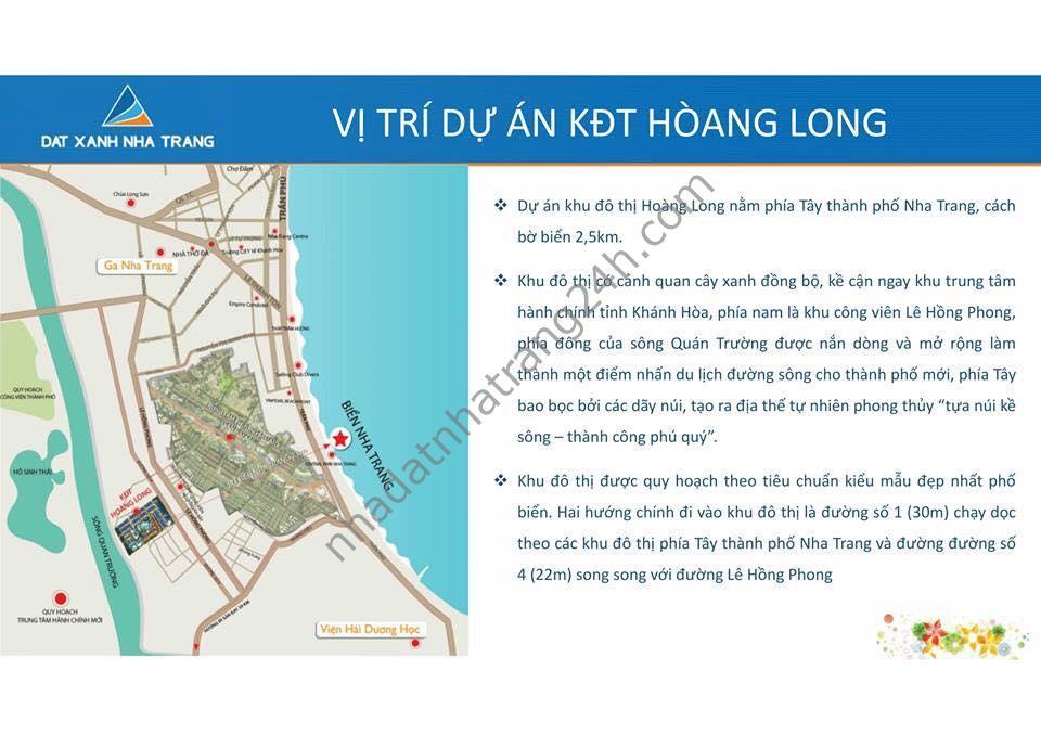 Chỉ hơn 1 tỷ đồng, sở hữu ngay lô đất nền tại dự án KĐT Hoàng Long Nha Trang – 093 575 2927