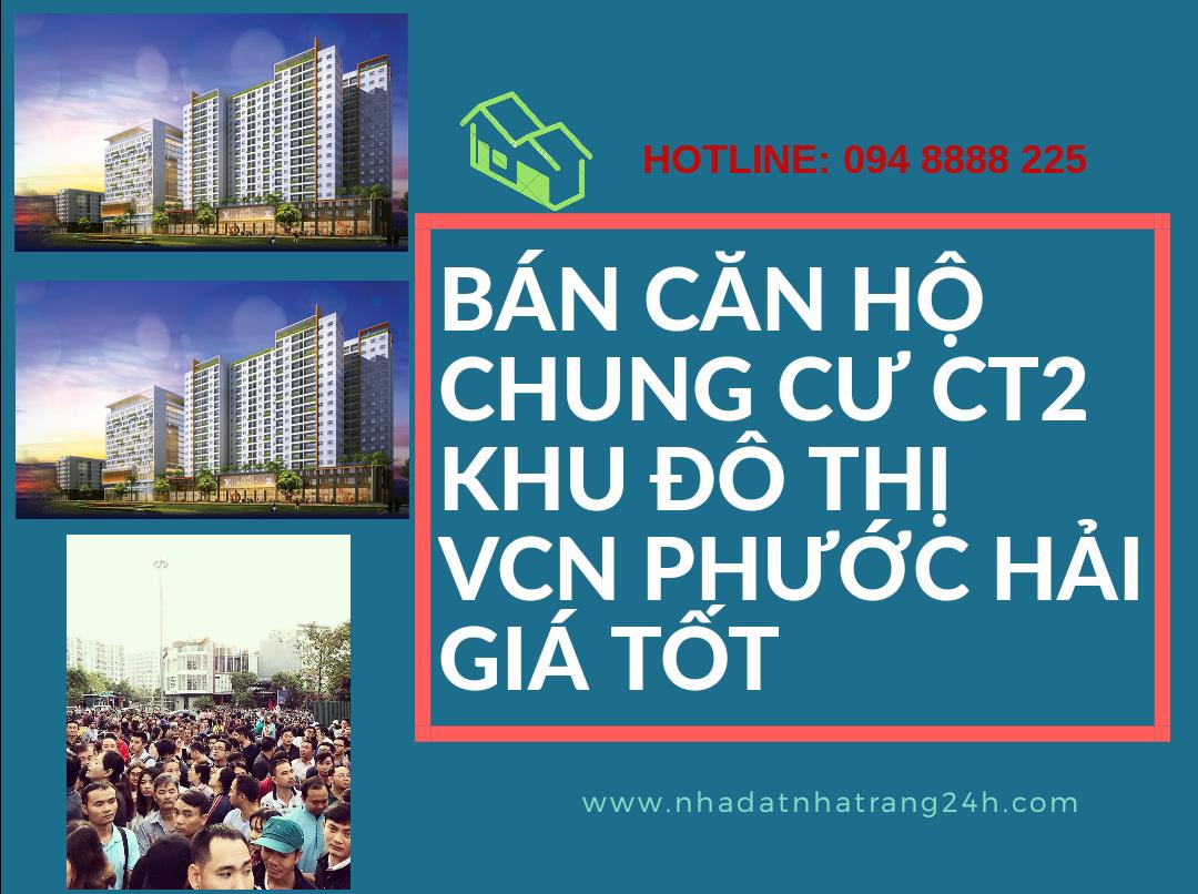 Bán căn hộ chung cư CT2 Khu đô thị VCN Phước Hải Nha Trang