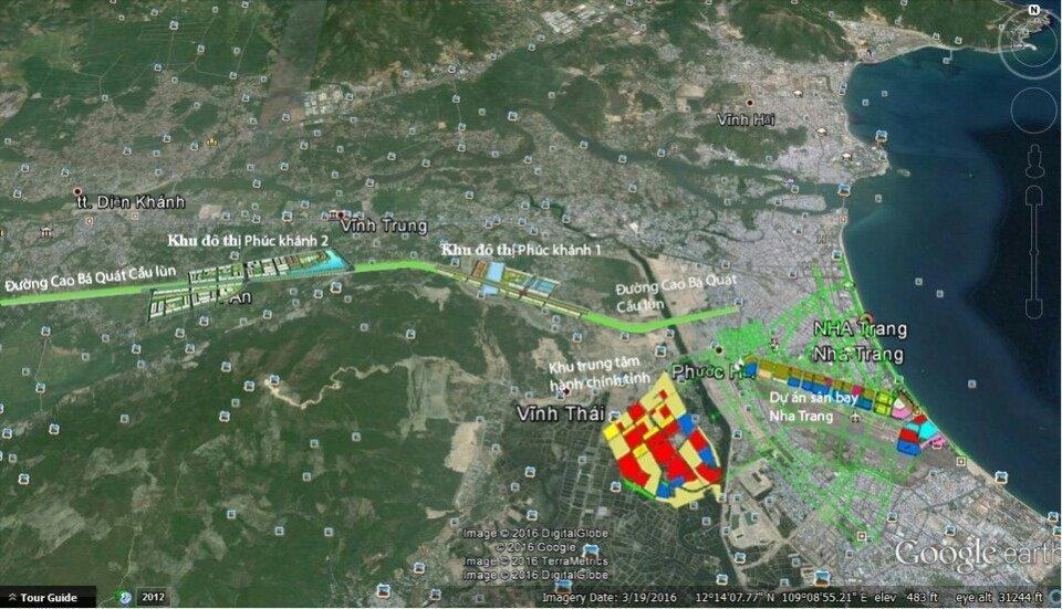Vi trí Khu đô thị Phúc Khánh