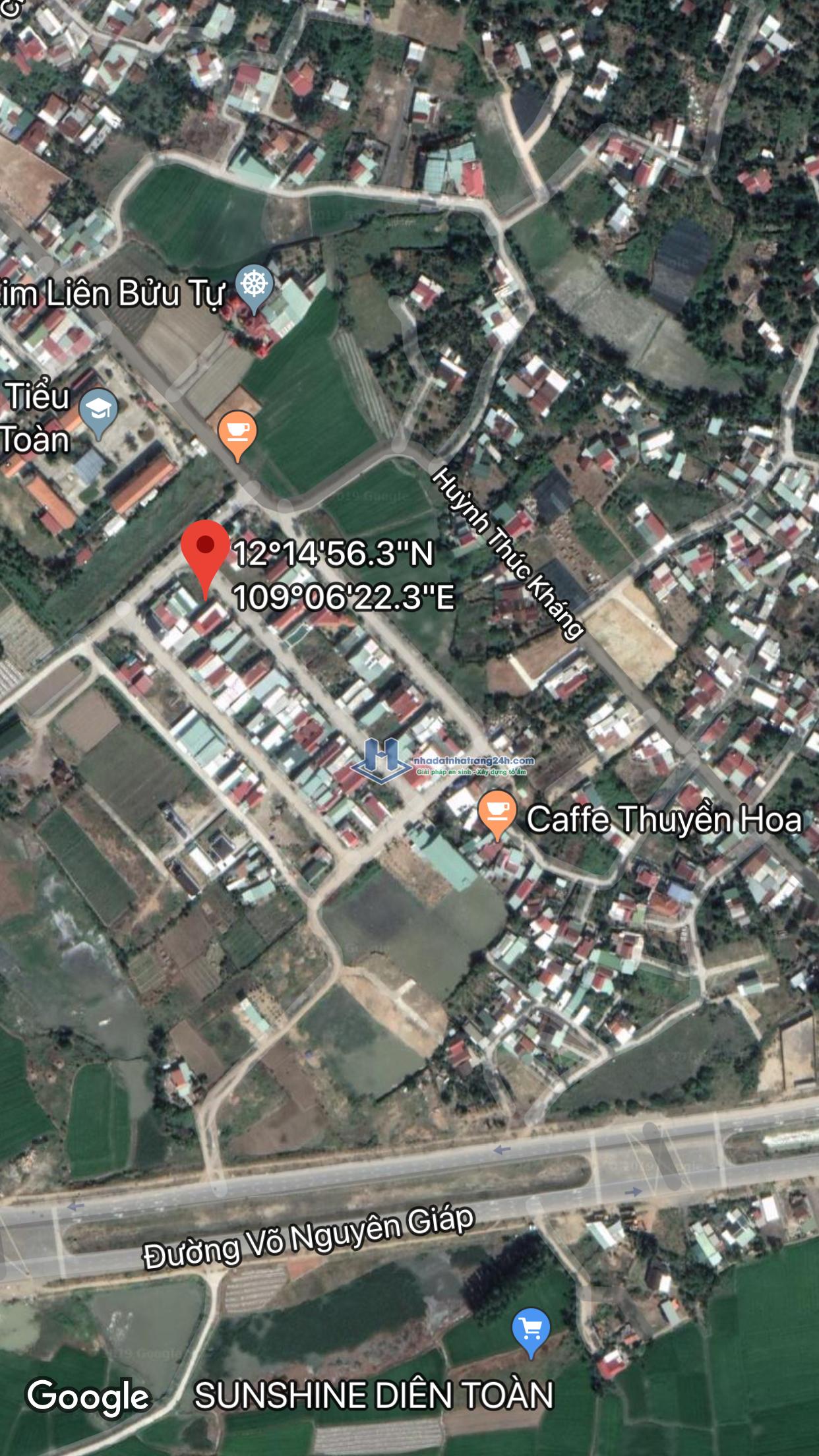 Bán đất tái định cư Diên Toàn – Diên Khánh. Lh 0901300194